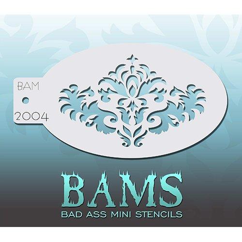 Bad Ass Stencils Damast Mini-Schablone (Damast-bad)