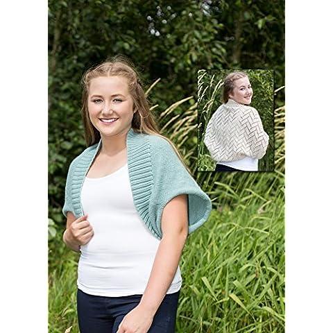 0058–Lucy Coprispalle–Maglia woolyknit by Dk lavorato a maglia, piccola, media e large| semplice, Calze e pizzo Alternative