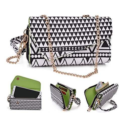 Kroo Tribal Urban Style Phone Case Walllet Clutch fits ACER Liquid E600 multicolore Black and White Black and White