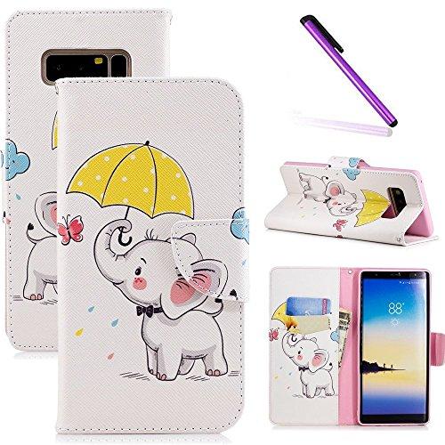 f5417e135c7 COTDINFOR Samsung Note 8 Funda Precioso Animales Impresión Patrón Suave PU  Cuero Cierre Magnético Billetera con