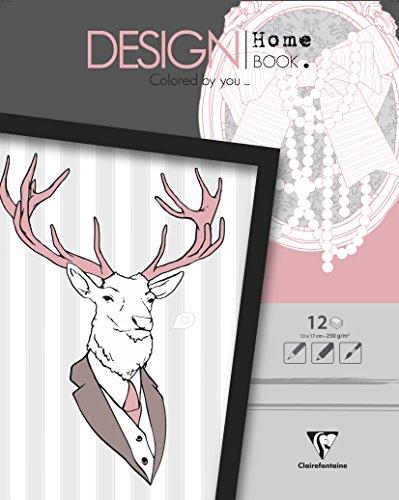 Clairefontaine Malbücher verleimt für Erwachsene: Design Home Book 13 x 17 Versailles: Malbuch...