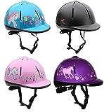 Horka, VG1, casco da equitazione per bambini,regolabile, ventilato, 48-61cm, Pink, S/M (53-57CM)