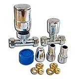 Tower TRVPACKSTCH - Válvula de desviación para bañeras y duchas (tamaño:...