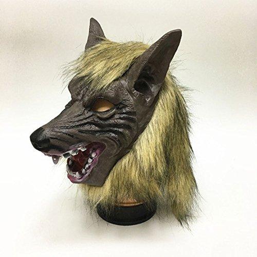 Kicode TOPmountain Latex Kopfbedeckung Masken Halloween Voll Kopf Overhead Wolf Kopf Tiere Cosplay Maske Masquerade Horror Fancy Karneval Party