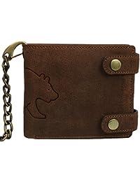 Brown Bear Geldbörse mit Kette Leder vintage braun 5202 br