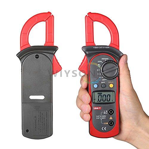 Preisvergleich Produktbild wiysond UT202A Digitale Strommesszange Daten Halt 600A DC/AC Spannung Strom Widerstand Multimeter Pinza amperimetrica diagnostic-tool