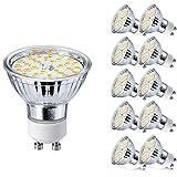 GU10 LED Ampoule Blanc Chaud 5W Equivalent à 50W Halogène Lampe Spot 3000K 450 Lumen 120°Faisceaux Ø50 x 48mm 220V Non-dimmable (Lot de 10)