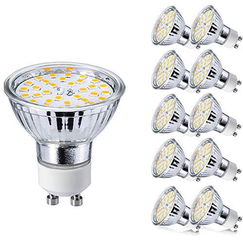 GU10 Bombillas LED 5W GU 10 Blanco Cálido 3000K AC