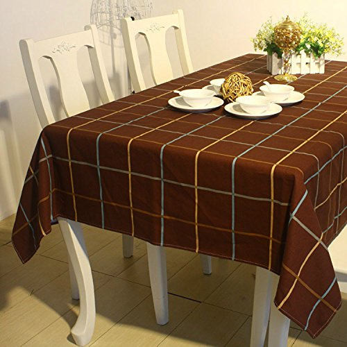 saejj-table-runners-fabric-gingham-table-decoration-fabrics-cotton-linen-dust-proof-cover-140x180cm-