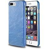 """iPhone 8 Plus/7 Plus Case, Insten Premium Leather Case Slim Fit Anti-Slip Classic Protective Back Cover for Apple iPhone 8 Plus/7 Plus (5.5""""), Blue"""