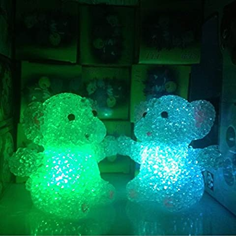 7colores cambiantes elefante lámpara de luz nocturna LED