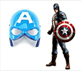 #10: Magicwand Super Hero Captain America Camouflage Face Mask Cosplay for Parties with Led Lights