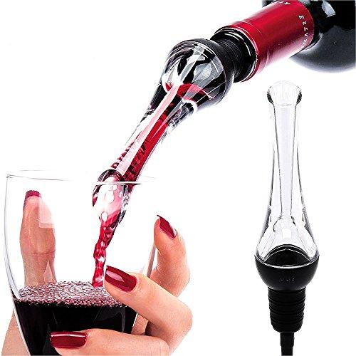 Firlar Vaporizador Profesional de Vino Rojo - Aereador Premium con Tapa de Botella Decantador Integrado Vaciado de Goteo y Regalo de la Compañía de Cocina - Garantía de Calidad de 1 Año