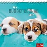 Für Hundefreunde 2017: Dekorativer Wandkalender mit Monatskalendarium