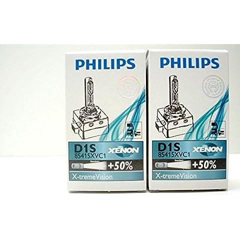 2 Stück PHILIPS D1S 85415XV C1 XenStart X-treme Vision Xenon Brenner 85V 35W PK32d-2