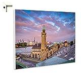 B-wie-Bilder.de Magnettafel Pinnwand mit Motiv Hamburg Hafen Größe 80 x 60 cm