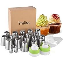 Ymiko acciaio inossidabile riutilizzabile Biaohua bocca 20Pcs pipe set torta torta canzone montato bocca fiore
