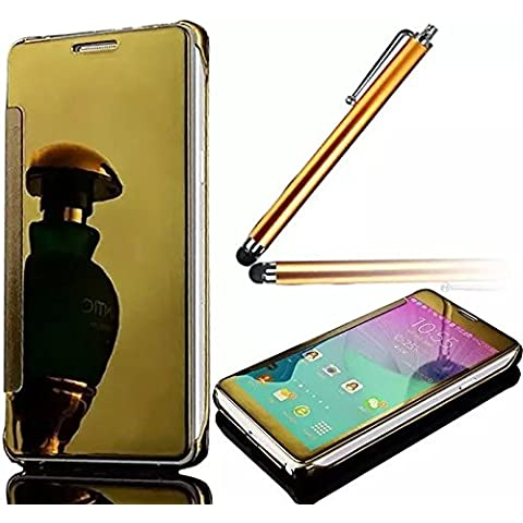 Vandot Funda Case Cover para Samsung Galaxy S7 Edge Cubierta caja ultra delgado ligero con Tapa Carcasa Delgada Resistente Aranazos+Lapiz Tacil
