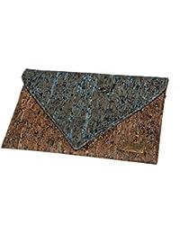 CorkLane Abendtasche Kork Tasche Clutch vegan aus Portugal. Envelope – Briefumschlag Design Handtasche aus Korkleder die vegane Alternative