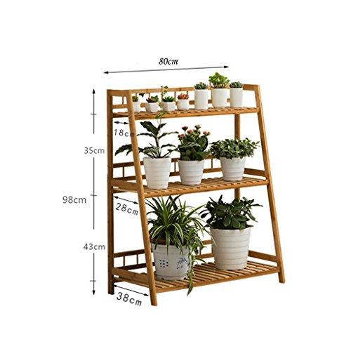 Étagère À Pot En Bois Étagère À Fleur Pot À Fleurs Présentoir À Plantes Étagère Plantes Escaliers En Bambou À 3 Niveaux ( taille : Length: 80CM )