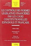 Le contrôle des normes legislatives financières par les cours constitutionnelles espagnole et française