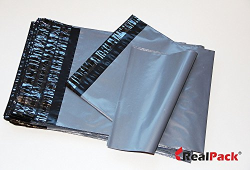 100x Grey Plastic Poly Mailing Bags 250 x 350 mm 10 x 14'' Postal Postage