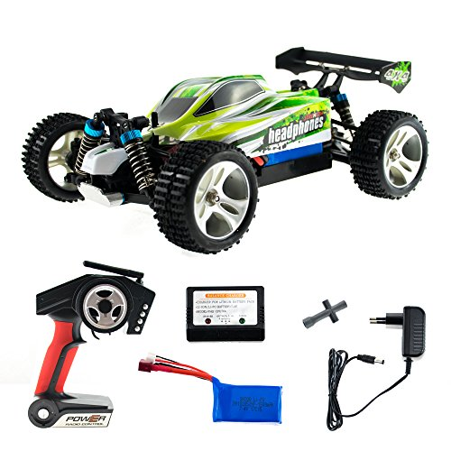 efaso WL Toys A959-B - schneller RC Buggy 70 km/h schnell, wendig, voll digital proportional - 2.4 GHz RC Auto mit Allradantrieb - Maßstab 1:18, hoher Fun Faktor
