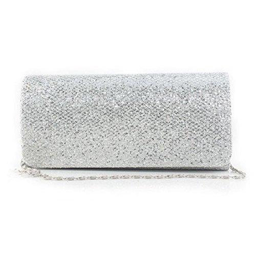 SSMK Small Clutch Bag, Poschette giorno donna Silver