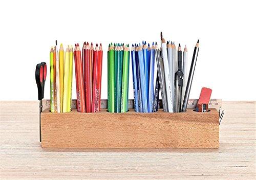 Stiftständer oder Kosmetikständer JUMBO aus Buche mit Magnethalter * -