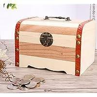 Preisvergleich für UabpT Sparen Sie Geld Sparbüchse Kreative Lieferungen Holz Kinder Sparschwein Holz Handwerk Ornamente (Hellbraun)