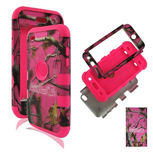 HYBRID 3in 1PK Pink Camo GHT Apple Touch 4, iPod Touch 44. Generation Tuff Combo Rugged Body Armor Defender Triple Layer stoßfest Fall Hard Phone Sony Tuff Combo Rugged Body Armor Defender Triple Layer stoßfest Case Cover Gummiert Touch Blenden