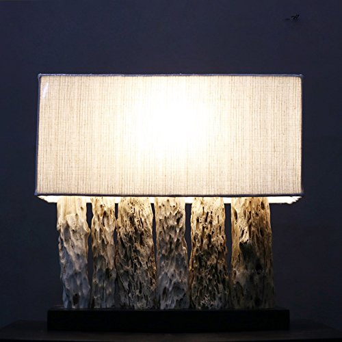 XXN-Texture di legno e mano creatrice nel sud-est asiatico style camera da letto soggiorno studio lampada da scrivania, lampada da tavolo