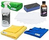 Liquid Elements ECO Shield Keramische Lackversiegelung Quarzt Coating Profi-Set Ceramic Paint Protection Kit mit 50ml Versiegelung, 1Liter IPA Reiniger, 1xApplikator 10x Suedetücher, 3x Microfasertücher zur Vorreinigung & Abnahme