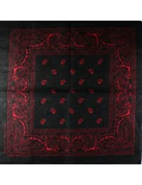 Bandana Scarf with original Paisley pattern in more than 50 colours and design | 100% cotton | black, white, red, blue, green and many more