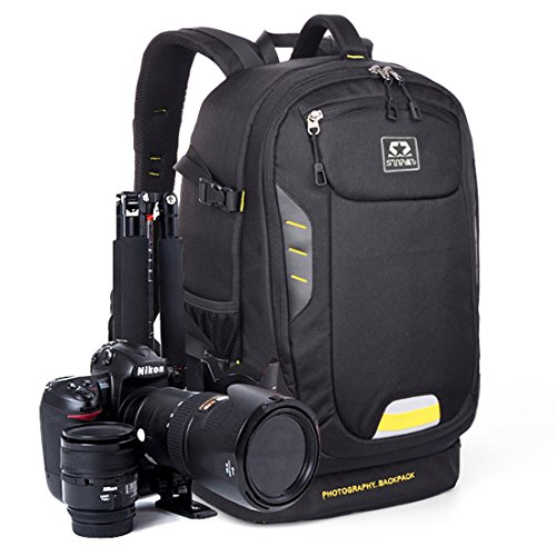 Imagen de sinpaid oxford  de cámara réflex dslr  para fotografia impermeable de viaje al aire libre negro
