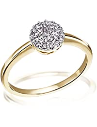 Goldmaid Damen-Ring 585 Gelbgold 21 Diamanten 0,25 Karat Brillanten Diamantring Verlobung