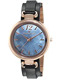TOM TAILOR Damen-Armbanduhr Analog Quarz Leder 5412004