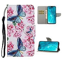 """Portemonneehouder iPhone 8 Plus/7 Plus 5.5"""" Blauwe Vlinder Bloem"""
