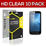 SOJITEK Coolpad Quattro II 4G Premium Ultra Crystal High Definition (HD) Clear Screen Protector [10-Pack] - Lifetime Replacements Warranty + Retail Packaging