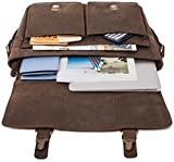 LEABAGS Cambridge Umhängetasche Schultertasche Laptoptasche 15 Zoll aus Echtleder - Muskat Vergleich