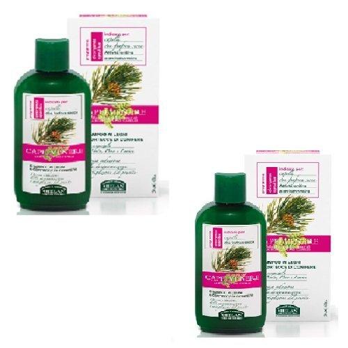 Helan–Shampoo für Holz und Rinde von Koniferen 2Packungen 200ml für Haar mit Schuppen secca- [Kit mit Seife Natur quizen gratis] (Rinde Seife)