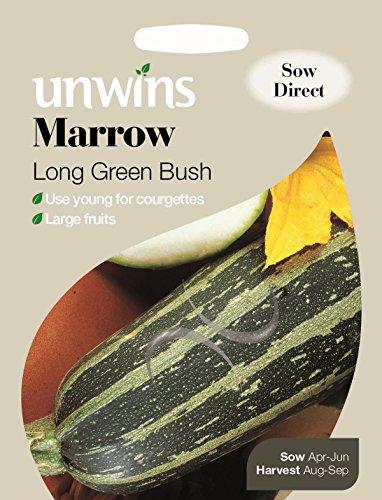 Unwins générations des paquets - Moelle Long Green Bush - 10 graines
