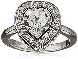 Guess Damen-Ring Herz Messing Glas weiß Gr. 56 (17.8) - UBR28507-56