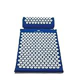 Ergotopia Akupressurmatte zur wohltuenden Entspannung / Massagematte für ruhige Momente und bessere Durchblutung / Inklusive Akupressurkissen (Blau, 68 x 42cm) -