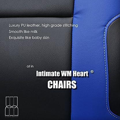 IntimaTe WM Heart Racing Silla Gamer, Silla de Escritorio Silla Gaming Silla Giratoria de Oficina, Altura Ajustable Asineto Grande con Reposacabezas, Carga 130kg