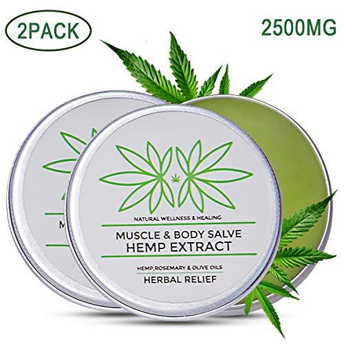 2 Pack Hanfcreme 5000MG, 100ML Hanfbalsam Hanfsalbe mit Hanföl Schmerzlinderung für Gelenke und Muskeln MEHRWEG
