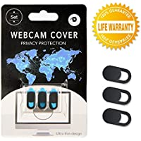 Refined Webcam Privacy Online Protection Ultra Thin Slim Slider Cover for Laptops, Tablet, Mobile Phone, iPad, Macbook Pro and more (3 Pack)