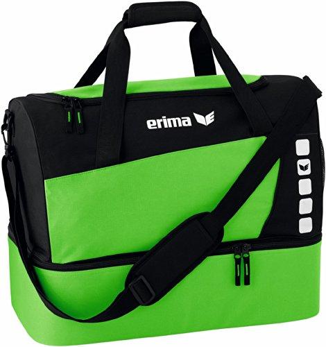 erima Sporttasche mit Bodenfach, Green/Schwarz, S, 723421
