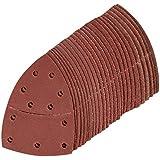 Silverline 427816 Hojas de Lija Autoadherentes para Multilijadora, 0 V, Rojo, 102 x 62 mm, 93 mm, Set de 25 Piezas