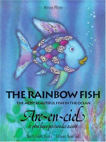 Arc-en-ciel le plus beau poisson, anglais français, broché